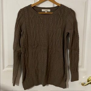 Loft pullover cable knit sweater small NEW
